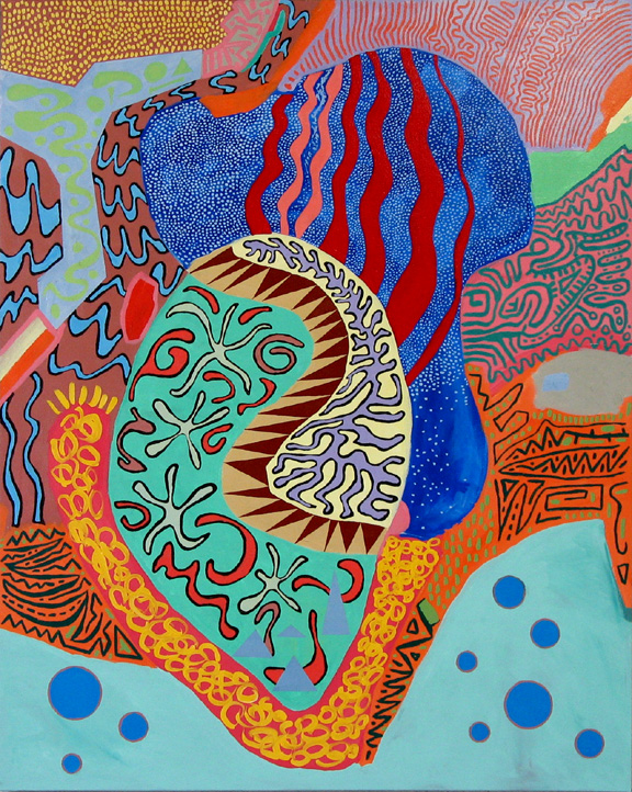 Manatee - acrylic on canvas - 120 x 150 cm (47.25 x 59 in)
